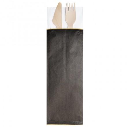 Sobre para Cubiertos Kraft Color Negro (caja 1.000 uds)