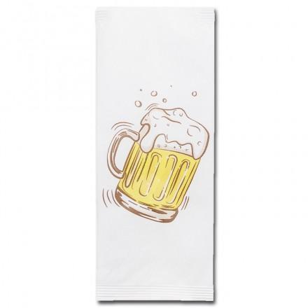 Sobre Portacubiertos Blanco Cerveza (1.000 uds)