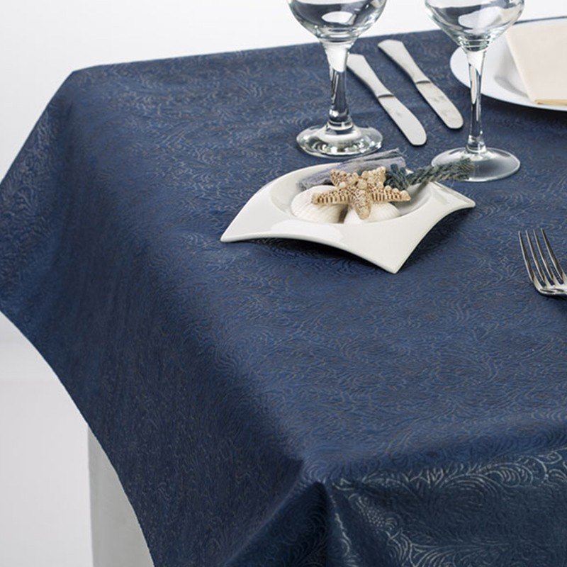 Mantel 120x120 cm Polipropileno Plus Azul (100 Uds)
