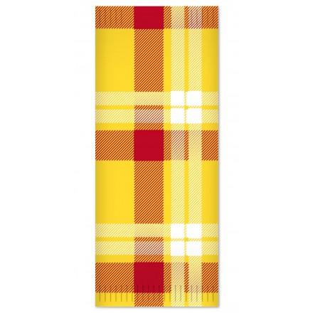 Sobre Para Cubierto Escocés amarillo