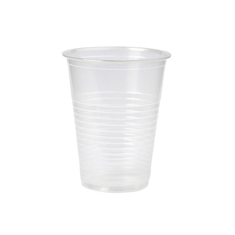 Vaso de Plástico Transparente 200 cc.