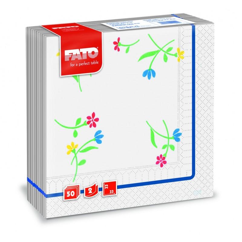 Servilletas de Papel 33x33 - Flores azul Genciana
