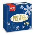 Servilleta de Papel 40x40 Prestige Decoradas Flores Azul Genciana