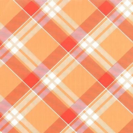 Mantel Individual 30x40 Escoces Naranja