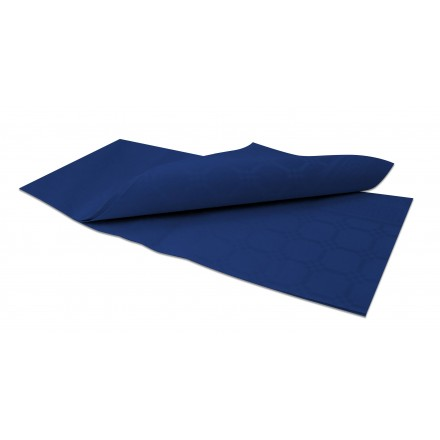 Mantel 100x100 Damascado Azul Noche
