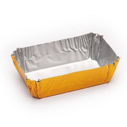 Cápsula rectangular pastelería 45x25x16 mm