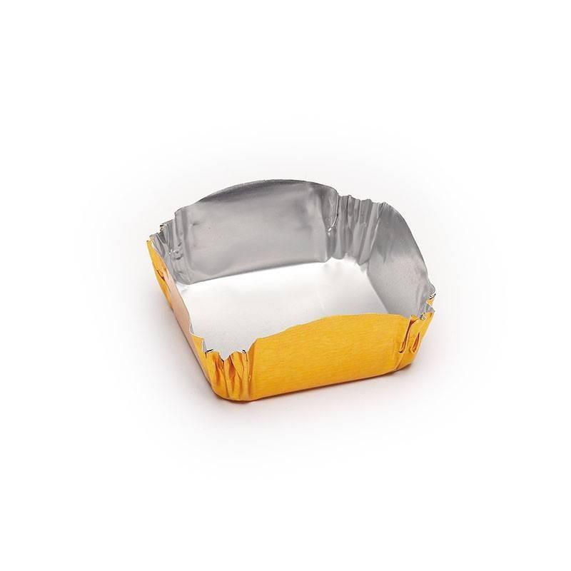 Cápsula cuadrada pastelería 35x16 mm