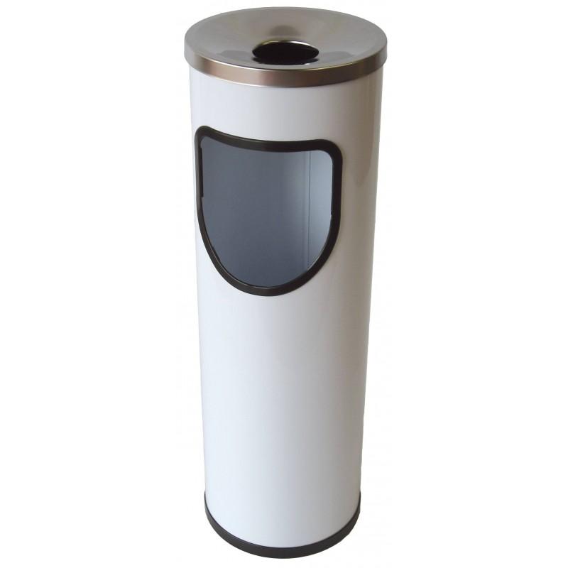 Papelera cenicero 25 litros Blanco