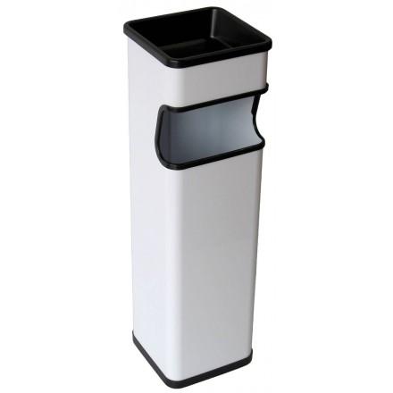 Cenicero papelera rectangular 20L blanco