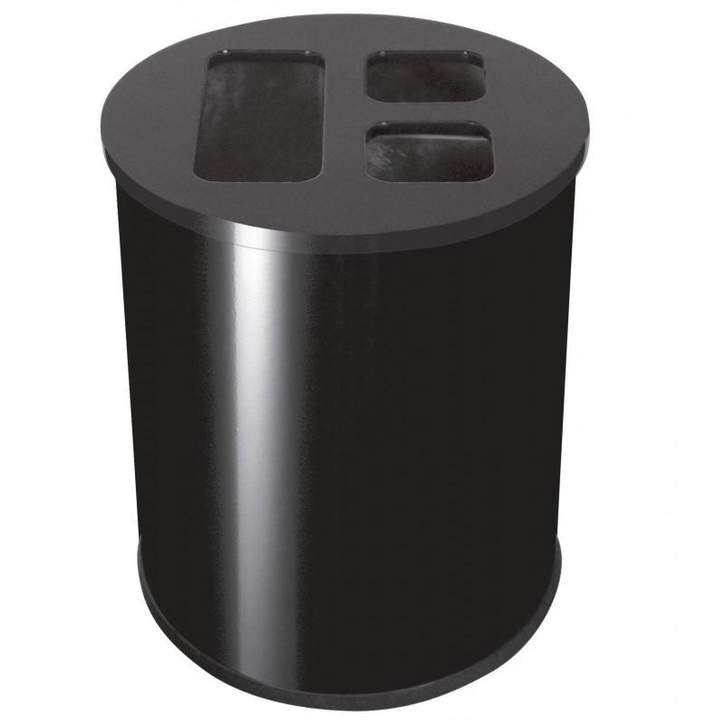 Cubo triselectivo 40L Negro