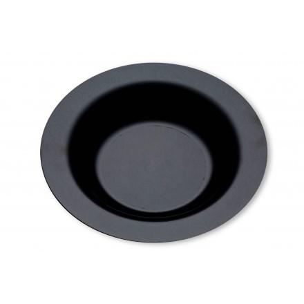 Plato redondo hondo negro 23 cm (20 Uds)