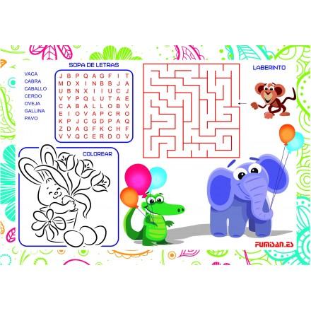 Mantel Individual Infantil Elephant (100 Uds)