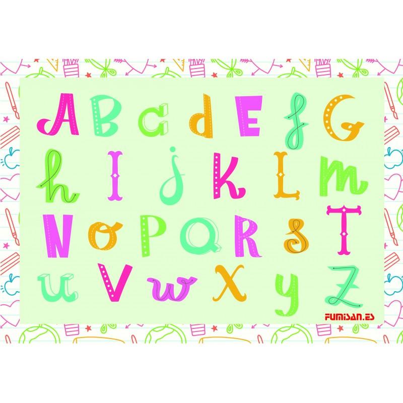 Mantel individual abecedario (100 Uds)