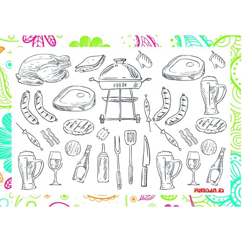 Mantel individual love cooking (100 Uds)