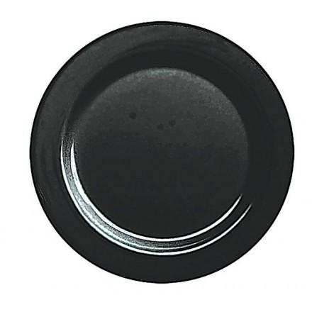 Plato redondo llano negro (20 Uds)