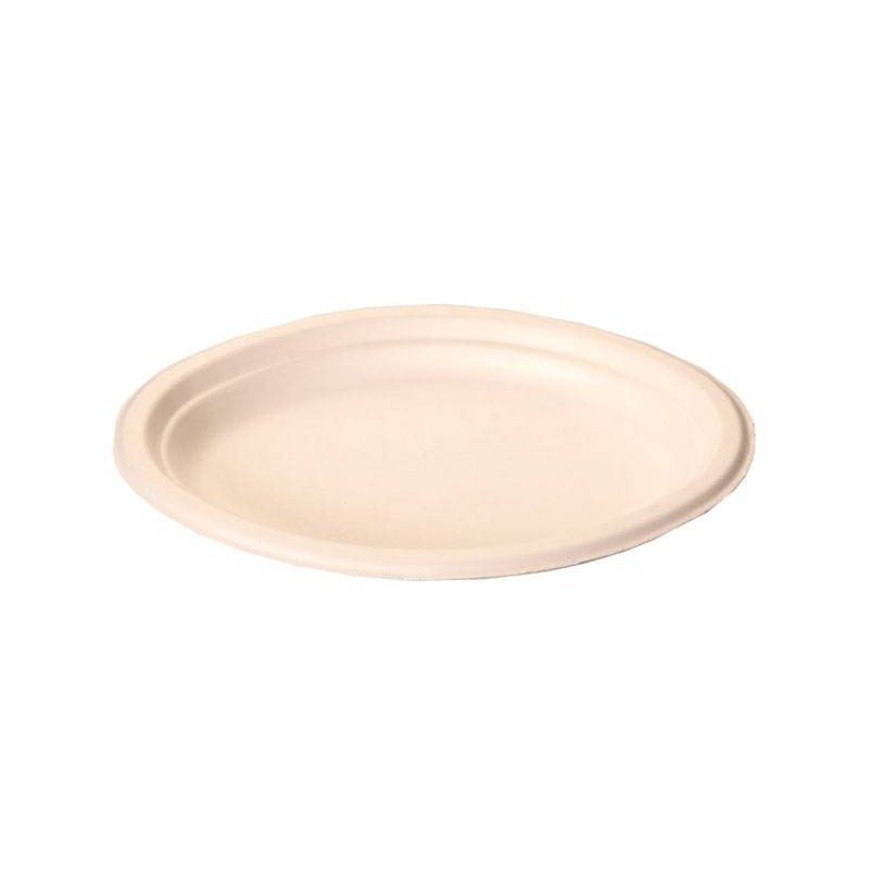 Plato ovalado 25,5 x 19 cm fibra moldeada