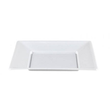 Plato Cuadrado Blanco 17x17 cm (50 Uds)