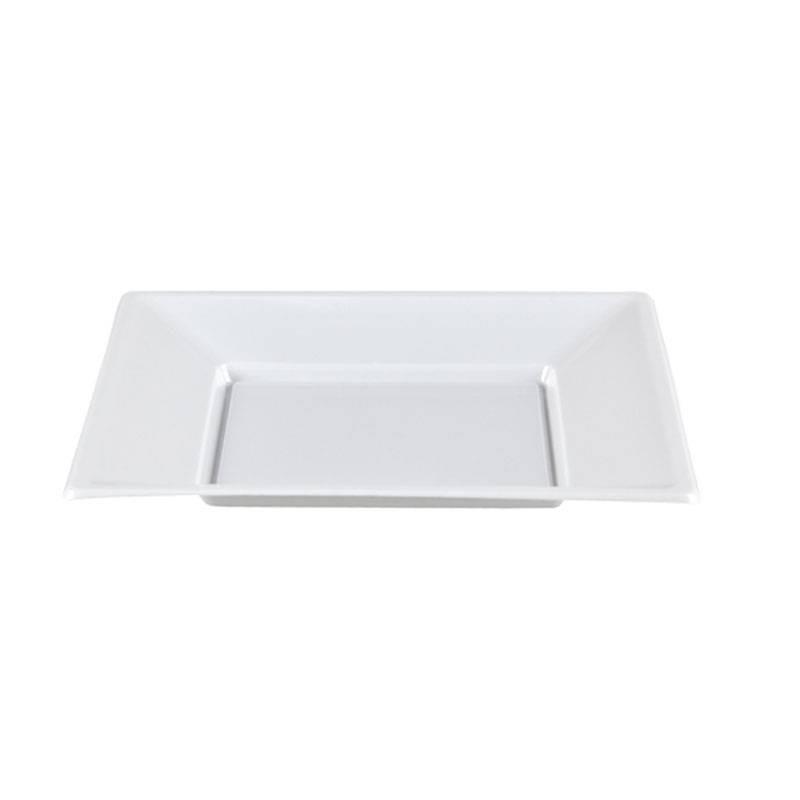 Plato Cuadrado Blanco 17x17 cm.