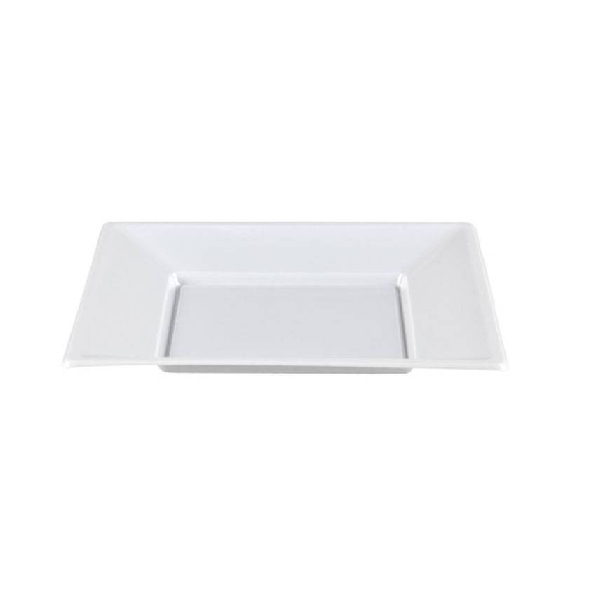 Comprar plato cuadrado blanco 17x17 cm 50 uds fumisan for Plato blanco