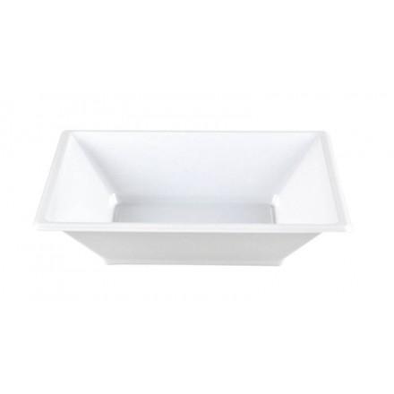 Plato Cuadrado Hondo Blanco 17x17 cm (50 Uds)