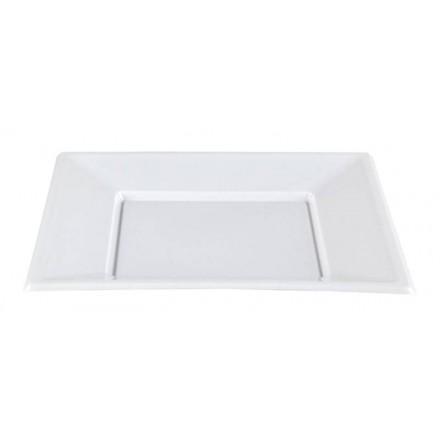 Plato Cuadrado Blanco 23x23 cm (50 Uds)