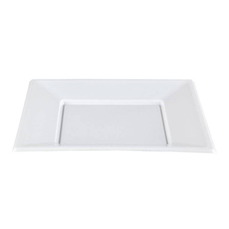 Plato Cuadrado Blanco 23x23 cm.