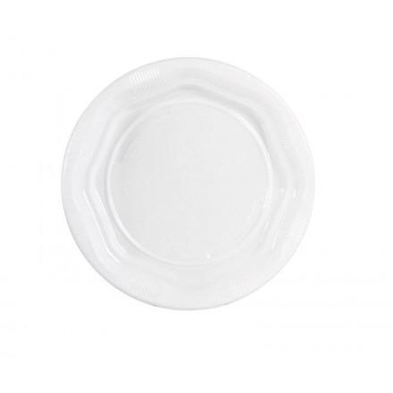 Plato de plástico llano 16,5 cm Eco (100 Uds)