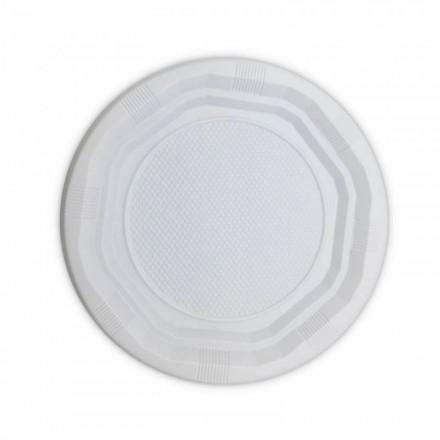Plato de Plástico Llano 20,5 cm (100 Uds)