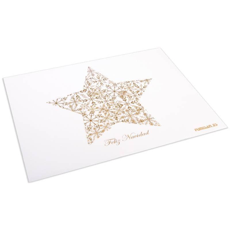 Mantel Individual 30x40 Estrella Feliz Navidad