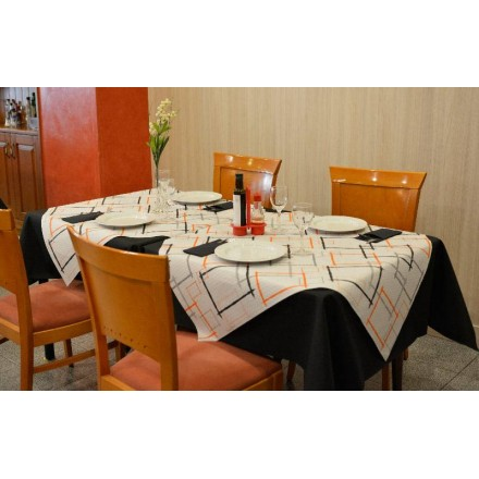 Mantel 100x100 cm Marcos Naranja