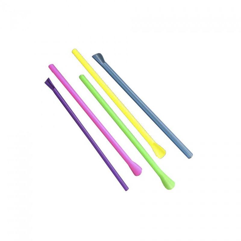 Cañita recta cuchara colores
