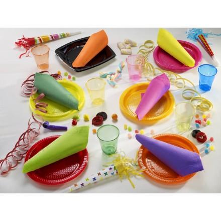 Plato de Plástico de Color 22 cm. - Amarillo