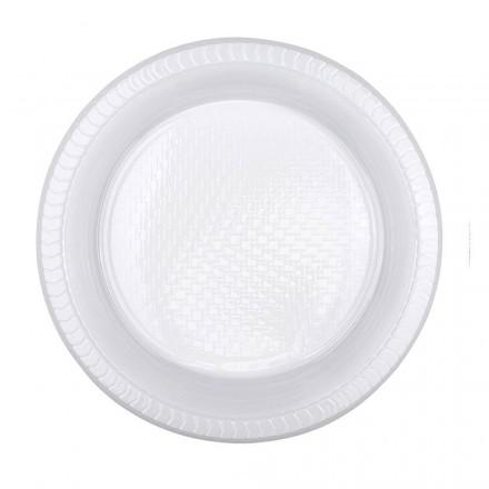 Plato de Plástico Hondo 22 cm (50 Uds)