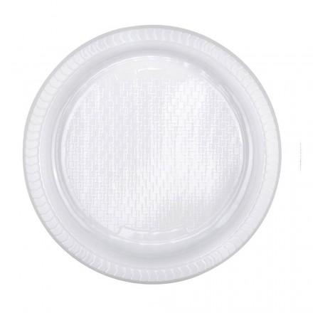 Plato de plástico extrarígido 22 cm (40 Uds)
