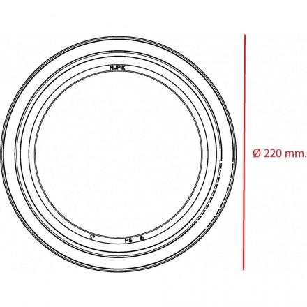 Plato Grande Extrarígido 22 cm.
