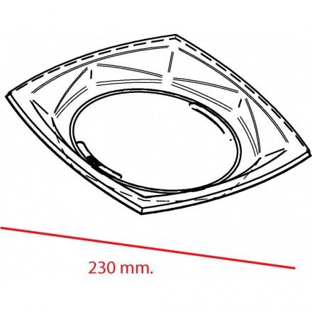 Plato de plástico Cuadrado 23 cm.