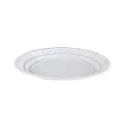 Plato de Plástico Llano 25 cm (50 Uds)