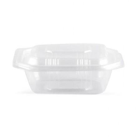Envase microondas con tapa 375 cc (50 Uds)