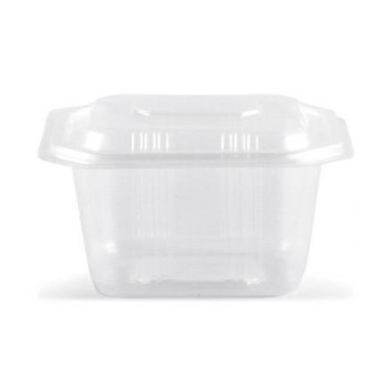 Envase microondas con tapa 500 cc (50 uds.)