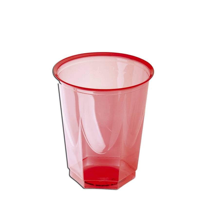 Vaso de pl stico de color cristal glass 250 cc 10 uds for Vasos de colores de cristal