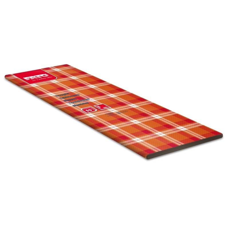 Mantel 100x100 Escocés Naranja/Rojo