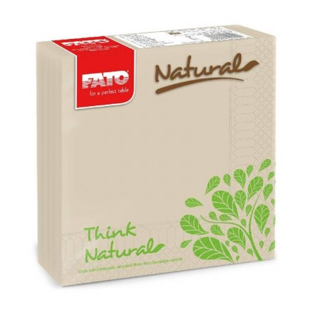 Servilleta de papel 33x33 cm Eco Natural Style (50 Uds)