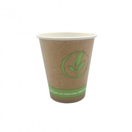 Vaso de cartón Biodegradables 175 cc 6 Oz (50 Uds)