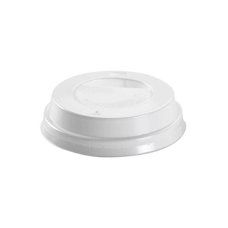 Tapa con agujero para vaso 192 cc (100 Uds)