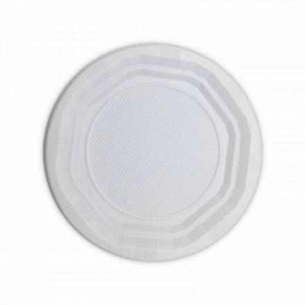 Plato de Plástico Llano 16,5 cm (100 Uds)