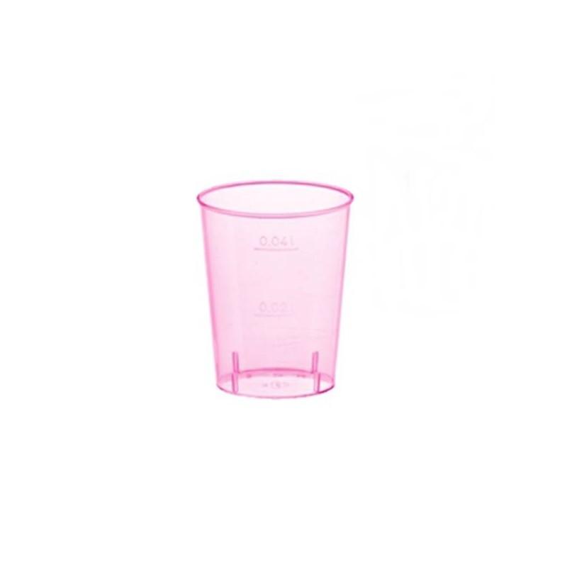Vaso Chupito de Colores 40 cc Rosa