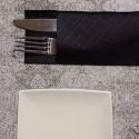 Mantel 100x100 cm Gama Tesela (400 Uds) Negro