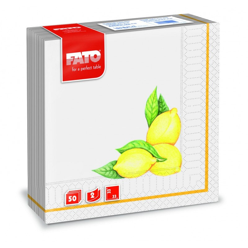 Servilletas De Papel Decoradas 33x33 limones