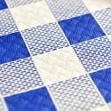 Mantel de Papel 100x100 cm Cuadros (400 Uds) Azul