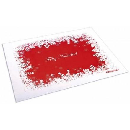 Mantel Individual 30x40 Decorado Feliz Navidad